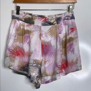 AMERICAN EAGLE • Watercolor Printed Pull-On Shorts